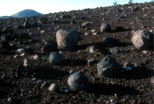 volcanic bombs at Craters of the Moon National Monument