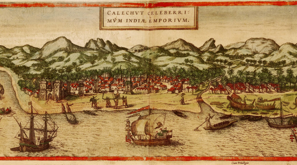 1572 print of Calicut (Kolkata, formerly Calcutta)