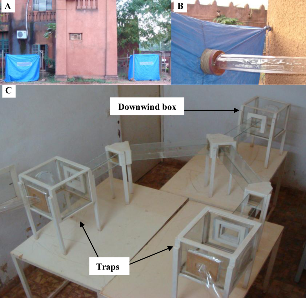Photo of the ducting set-up of the second malaria study mentioned in this post