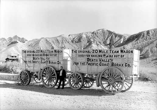 20 mule train wagon from Death Valley borax mining
